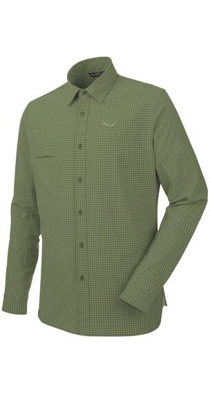 Salewa Puez Mini Check Dry L/S Shirt Men M mini check c.olive